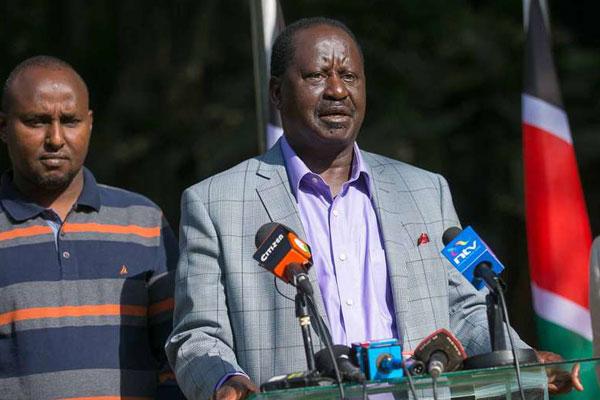 Nasa presidential candidate Raila Odinga