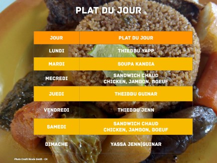 Tangor Cafe Plat Du Jour Winter 2018
