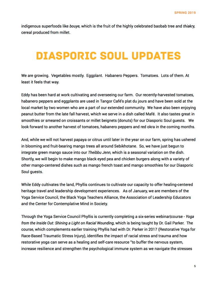 Newsletter Spring 2019 Page 5