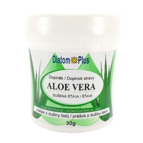 Aloe Vera sušená šťava 30g prášok kremelina Diatomplus