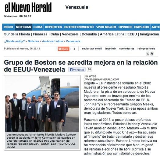 Miami Herald Grupo Boston 26:06:13 Español