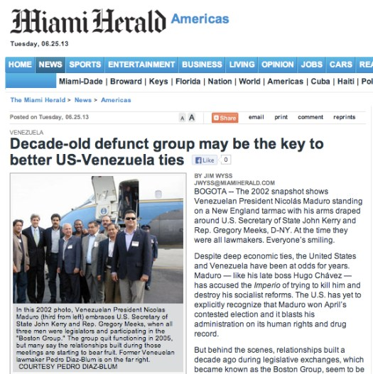 Miami Herald 25/06/13 Grupo Boston