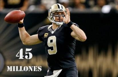 5. Drew Brees (New Orleans Saints)