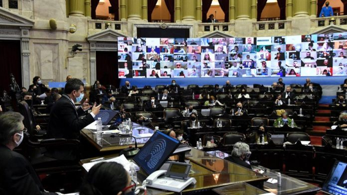 """José Luis Ramón (Unidad Federal para el Desarrollo) pidió aplicar """"medidas sanitarias"""" en Diputados."""