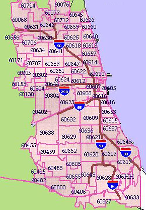 708 Area Code Map : Chicago, Catalog, Online