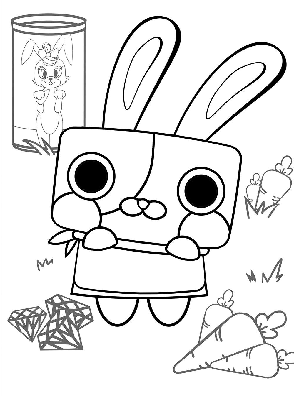 Toki Conejo Canimals Dibujos Colorear Dibujalandia