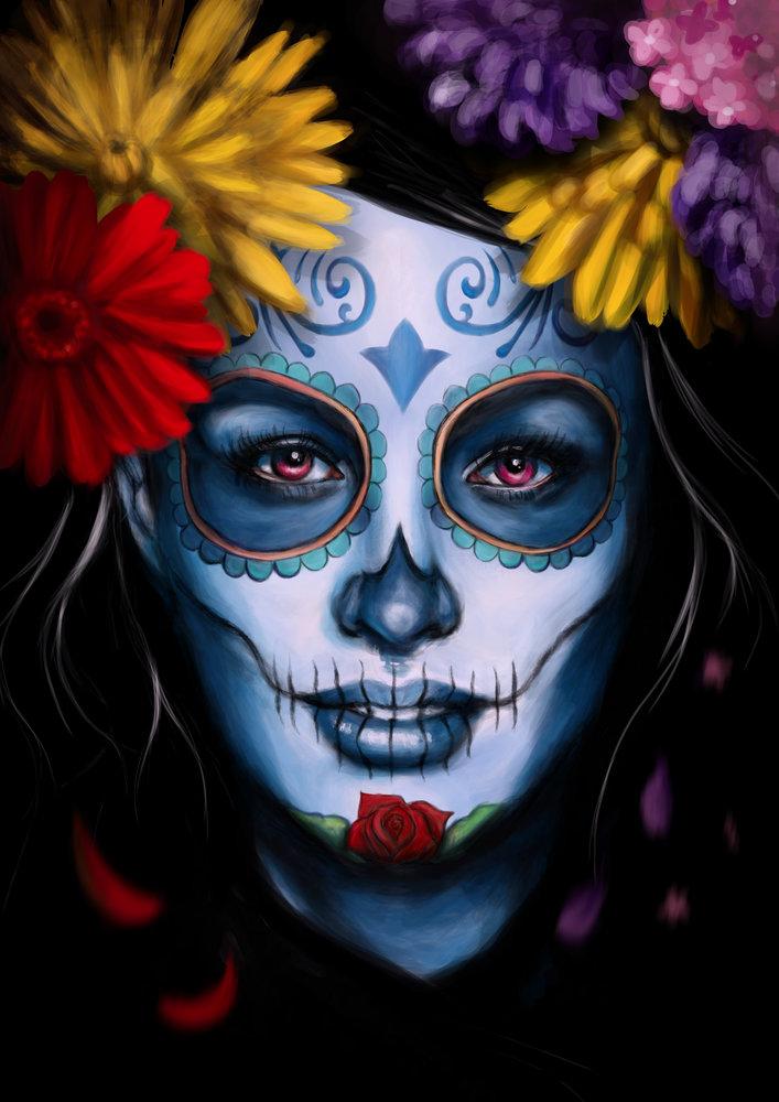 Sugar Skull Girl Wallpaper Catrina Por Lauratorres Dibujando