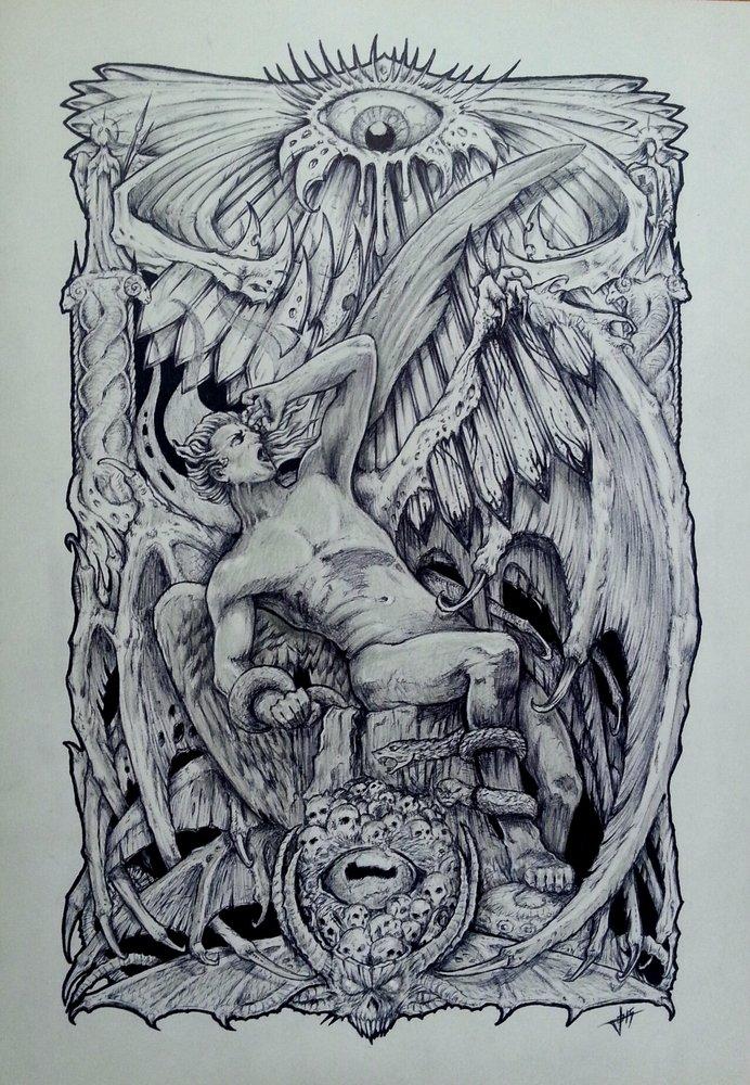 El Ngel Cado Por Josemoratalla Dibujando