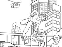 Parkour Coloring Pages Sketch Coloring Page