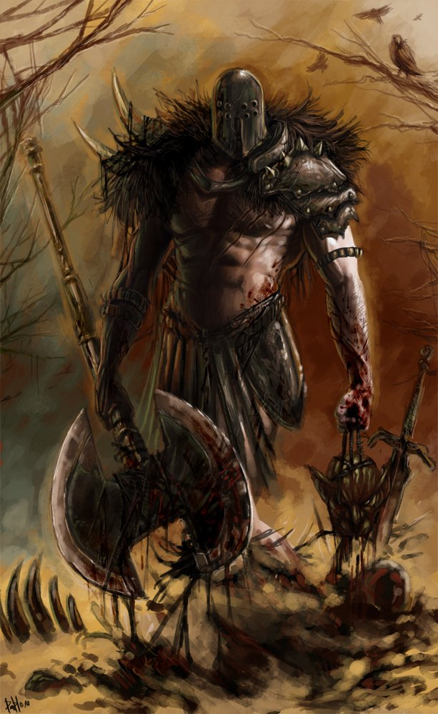 Barbarian Demon Slayer por ehnnokk  Dibujando