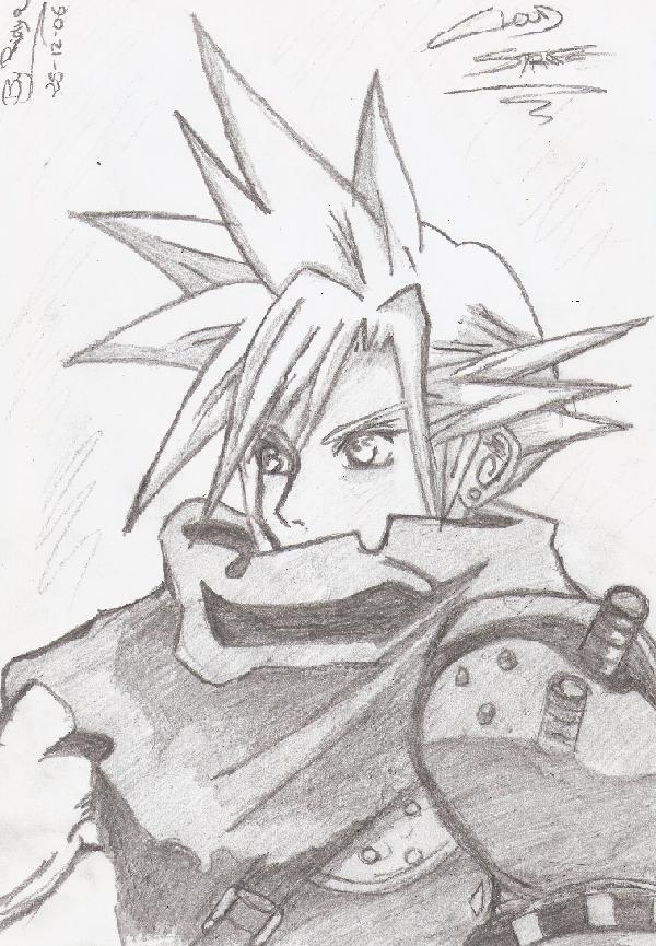 Final Fantasy VII Cloud Strife Por Anabeex Dibujando