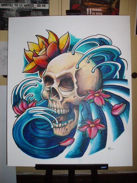 Calavera tattoo por juskko  Dibujando