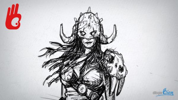 Un dibujo de Nidalee, del LOL VS Garruk de Magic y las Neuronas espejo – Dibujar Bien.com
