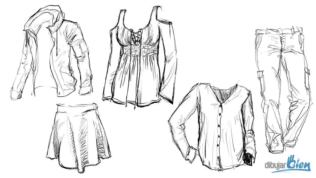 dibujo de ropa