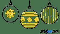 Dibujos de navidad bolas  Regalos populares de navidad