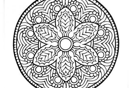 Imagenes De Mandalas Faciles Para Colorear