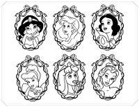 Dibujos Para Colorear Princesas Navidad Princesa De