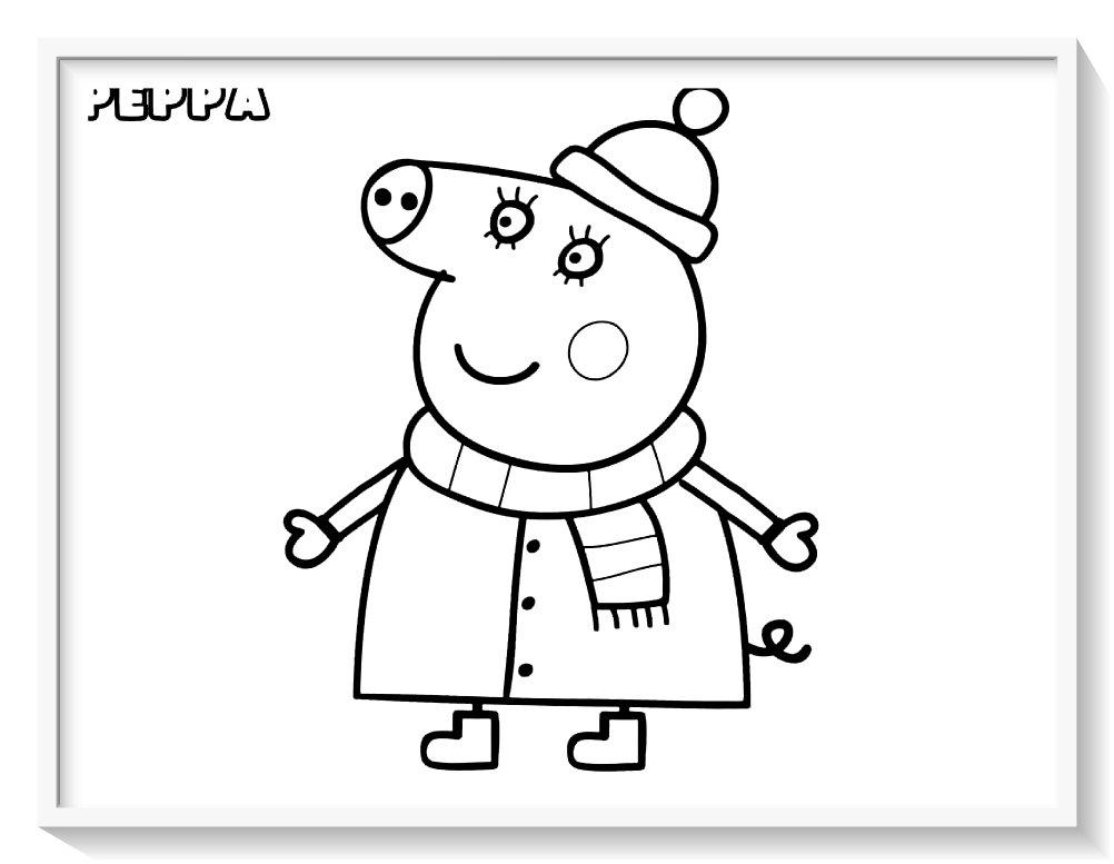 Dibujos De Peppa Pig Para Colorear Y Imprimir Biblioteca