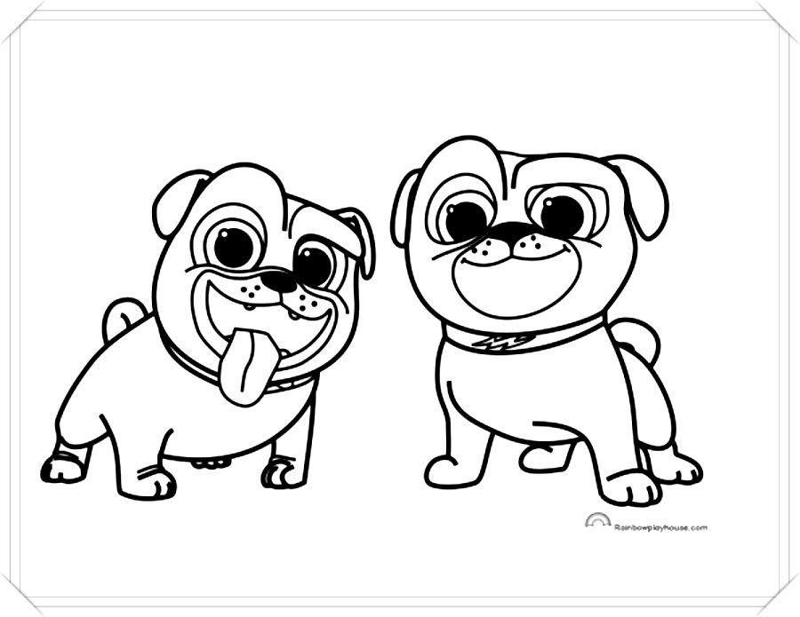 Dibujos Para Pintar Perritos Tiernos