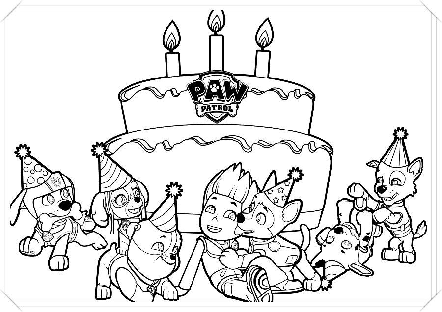 Dibujos De La Patrulla Canina Para Colorear Online