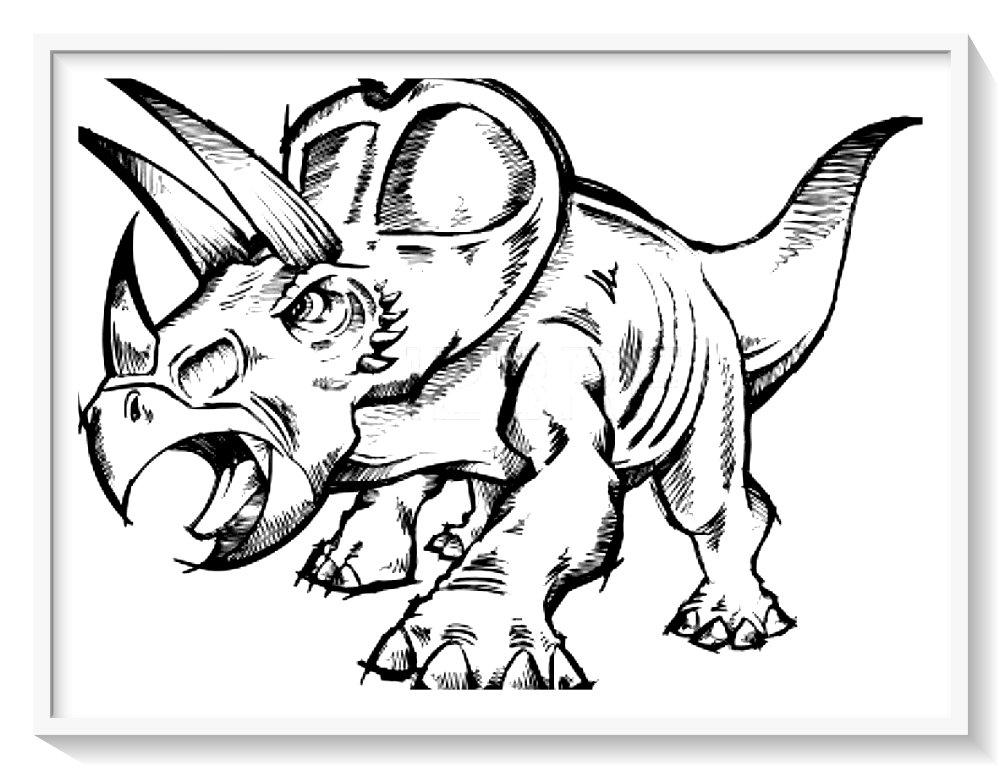 Para Colorear Dinosaurios Animados Biblioteca De