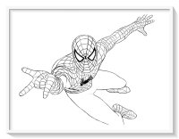 Spiderman Animado Para Colorear Biblioteca De Imgenes