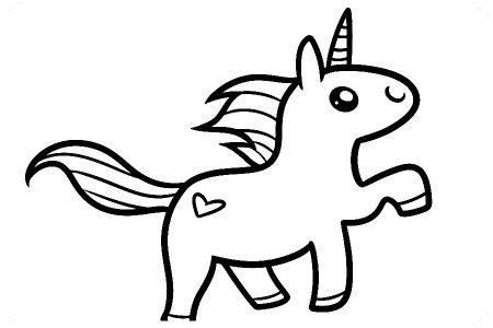 Dibujos De Unicornios Faciles De Dibujar