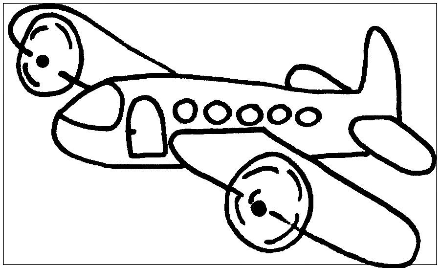Aviones Para Colorear Animados Biblioteca De Imgenes Online