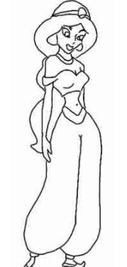 Dibujos Para Colorear De La Princesa Jazmin Princesa