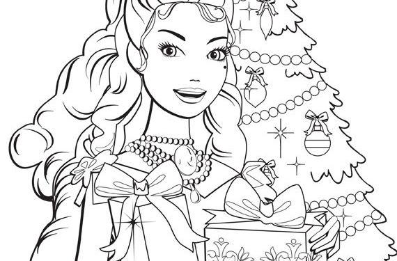 Dibujos De Barbie De Navidad.Dibujos Para Colorear De Barbie Navidad