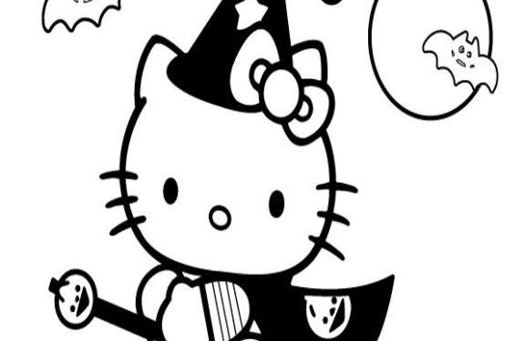 Dibujo Hello Kitty Halloween