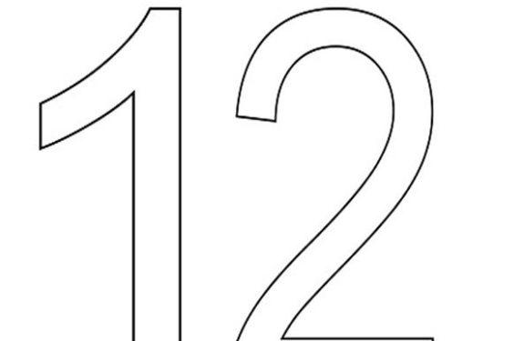 Numeros Para Colorear Del 1 Al 12 Los Nmeros Del 1 Al