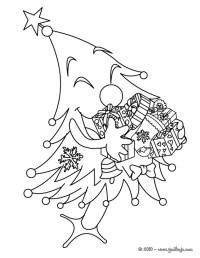 Dibujos para colorear   rbol y regalos de Navidad ...