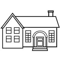 Casas De Ladrillo Para Colorear Páginas Para Imprimir Y