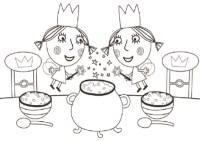 Dibujos de el pequeo reino de ben y holly para pintar e ...