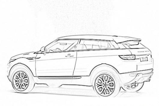Range Rover Coloring Pages