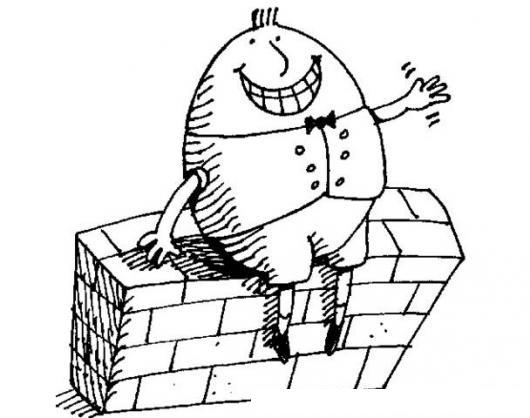 Dibujo De Huevo Sentado Sobre Un Muro De Concreto Para
