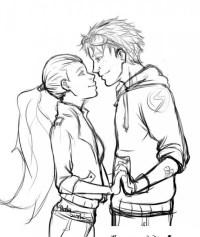 Imagenes de parejas besandose dibujos - Imagui