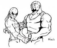 Dibujo De Luchadores De Lucha Libre Para Pintar Y Colorear ...