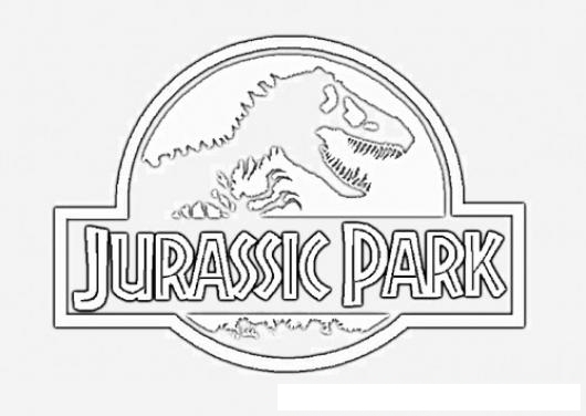 Free coloring pages of jurassic park logo