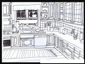 Cocina Con Lavaplatos Para Colorear COLOREAR DIBUJOS DE CHOLO Cocina Con Lavaplatos Para Colorear dibujosa com