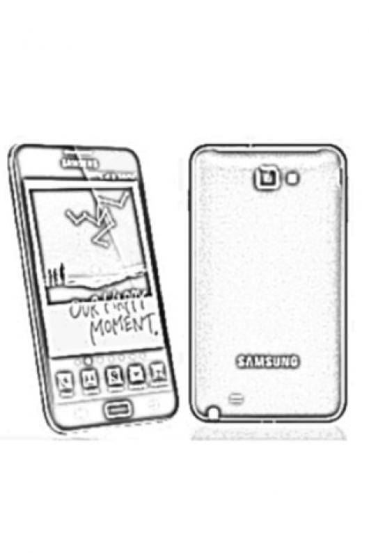 Celular Samsung Galaxy Note Para Colorear Y Pintar