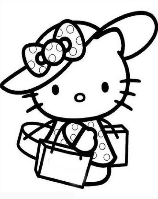 hello kitty dibujos para colorear y pintar aprender a