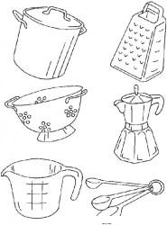 cocina embroidery dibujos patterns colorear utensilios tools towel kitchen coloring designs baking towels stitch cross cozinha tea patchwork disegni machine