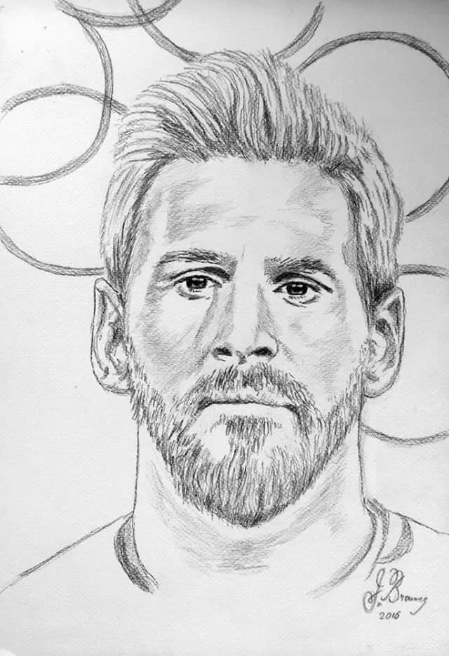 Dibujos De Messi : dibujos, messi, Dibujar, Lionel, Messi