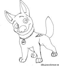 Dibujos de bolt el perro