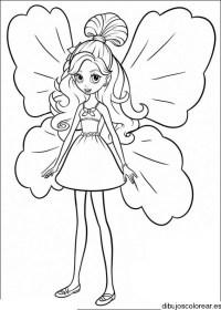 Barbie para dibujar faciles