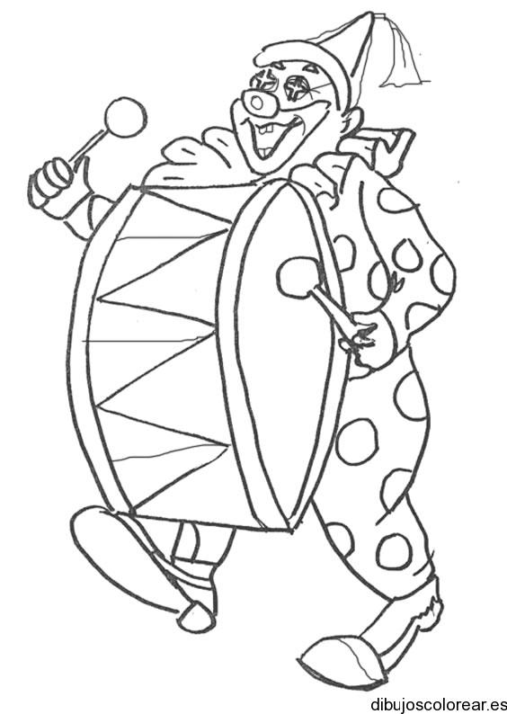 Payaso Malabarista Dibujos De Payaso Para Colorear