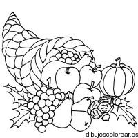 Dibujo de un bodegn con frutas