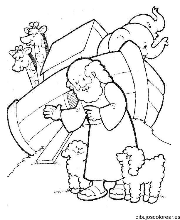 Dibujo de Noé y el Arca